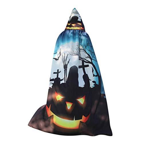 ITISME DAMEN TOPS Frauen-Neuheit-Kürbis-Druck-Kap-Schal-Dame Halloween Poncho-Schal-Verpackungs-Kostüm