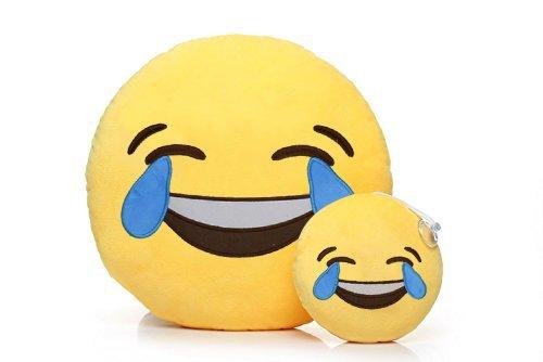 Emoji pillow emoji smiley emoticon rotonda cuscino giocattolo peluche car home office cushion accessori toy pillow regalo