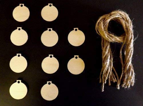 Derwent laser craft mini palle natalizie a forma di di legno 30mm modifiche del regalo/decorazione di natale confezione da 10forme