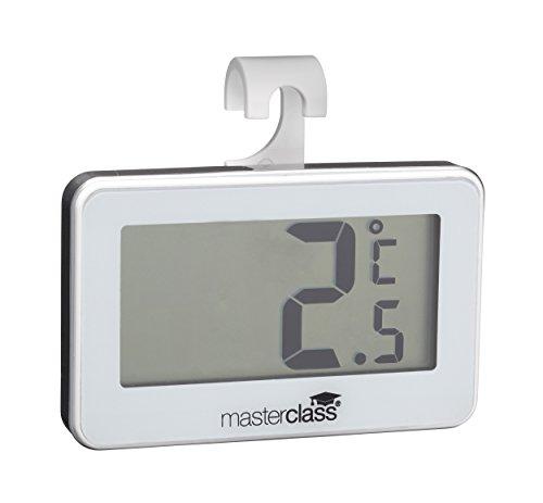 Kitchen Craft MCFRIDGETHERM Digitales Master Class Kühlschrankthermometer, Kunststoff, silber, 1.5 x 6.9 x 6 cm
