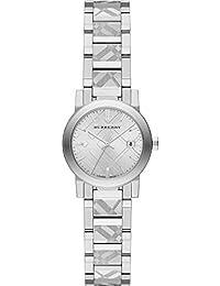 Ladies Burberry el Ciudad grabado Check reloj bu9233