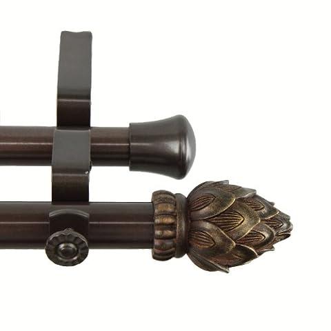 Rod desyne Bud Doppel Gardinenstange, 48von 84Zoll), Kakao
