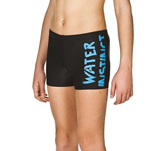 arena Jungen Badehose Slogan (Schnelltrocknend, UV-Schutz UPF 50+, Chlor-/Salzwasserbeständig), Black-Turquoise (508), 152
