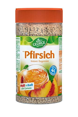 KING GEORGE - Royal Tea Time, Pfirsich Instantgetränk 6 x 400 g, Heiß & Kalt ein Genuss
