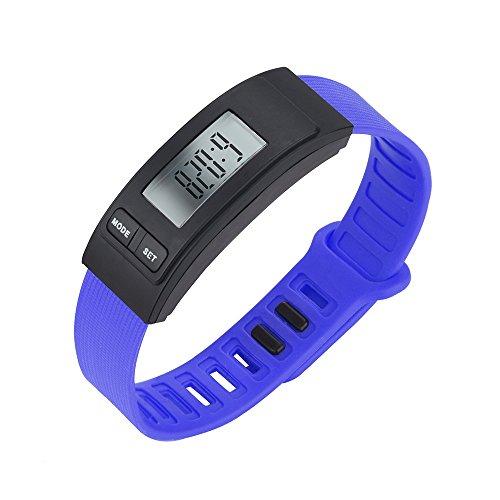 Uhren Damen Armbanduhr Frauen Run Step Watch Armband Schrittzähler Kalorienzähler Digital LCD Gehweg Uhren Delicate Wrist Watch,ABsoar
