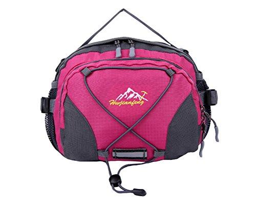 Baymate Unisex Sport Camping Wandern Fahrrad Außeneinsatz Reißverschluss Hüfttasche Rose