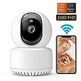 DADYPET WLAN IP-Kamera 1080P FullHD, WiFi Indoor Kamera, Nachtsicht, Bewegungsmelder, 2-Wege Audio, Überwachungskamera für Ihre Sicherheit (Baby, Haustier), Steuerung über Smartphone-App