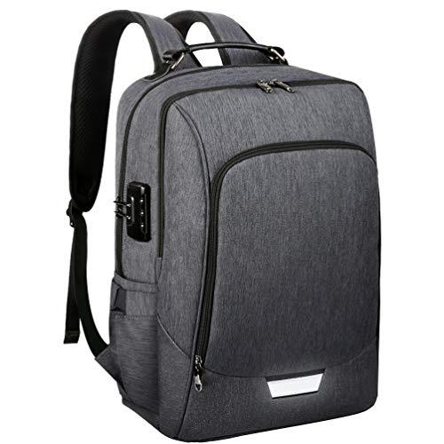Vbiger Zaino Porta PC 17 Pollici Zaino Uomo Zaino Antifurto Impermeabile Laptop per Viaggio Lavoro Scuola con Porta USB