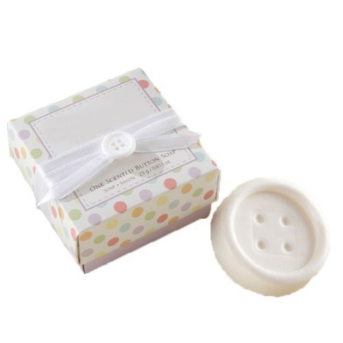 Cute Scented Button-Shape Soap Savon for Wedding Party Favors Gift Bag Fillers---White
