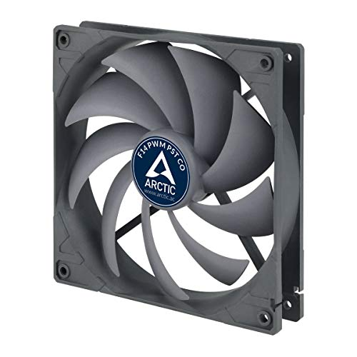 ARCTIC F14 PWM PST CO - 140 mm PWM PST Gehäuselüfter für Dauerbetrieb | Case Fan mit PST-Anschluss (PWM Sharing Technology) + Doppelkugellager | Reguliert RPM synchron -