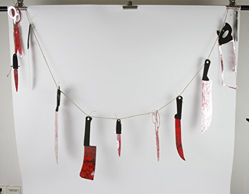 nted House Dekoration 12 Plastic Bloody Messer Serie (Gemmy Halloween Animiert)