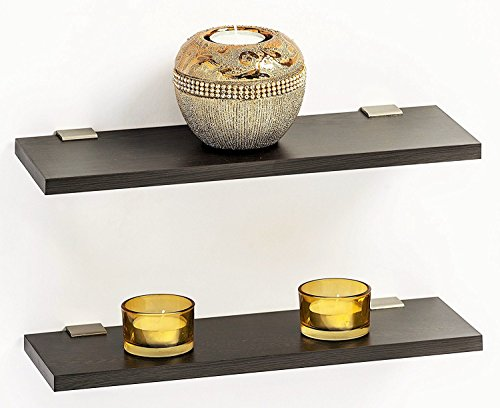 Wooden Brown Floating Display Wall Shelf set of 2 By Artesia  available at amazon for Rs.589