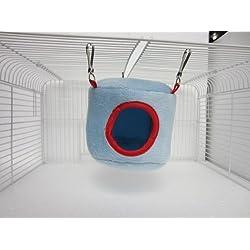Azul hamacas nethara cama casa rata hámster hurones loro juguete del ratón del pájaro