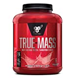 BSN True Mass Mass Weight Gainer (mit besonderer Protein Matrix und Kohlenhydraten zum Masse aufbauen) Erdbeere Geschmack, 1er Pack (1 x 2640 grams)