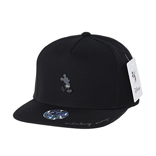 WITHMOONS Baseballmütze Mützen Caps Disney Mickey Mouse Silhouette Snapback Baseball Cap CR2268 (Black) (Mickey Mouse Mützen)