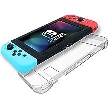 AFAITH Nintendo Switch caso, la absorción de choques y Anti-Scratch Hard Case Volver Funda Shell para Nintendo Switch (Transparente) TG030