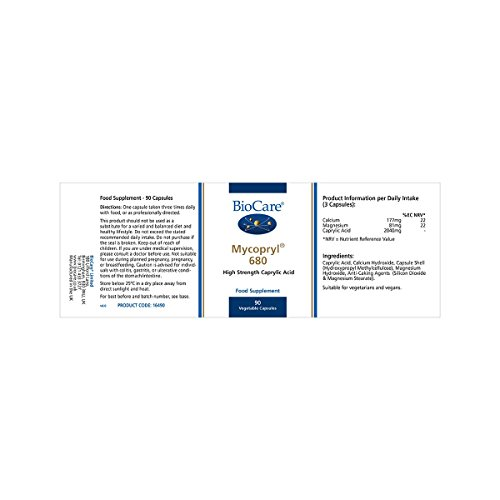 BioCare Mycopryl 680 (Caprylic Acid Complex) 90 Capsules