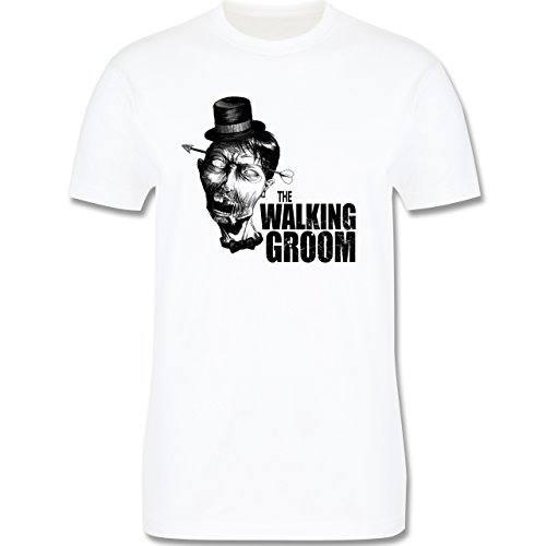 JGA Junggesellenabschied - The Walking Groom - Zombie JGA - Herren Premium T-Shirt Weiß