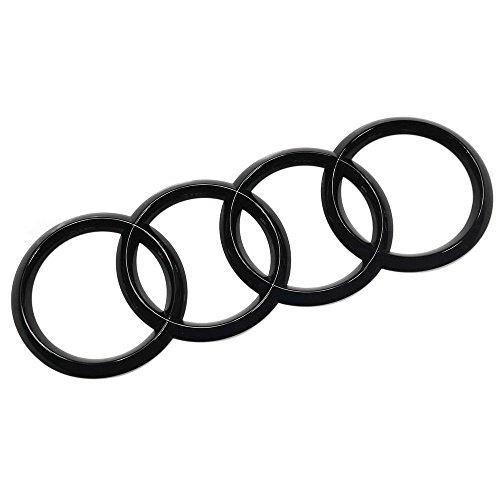 Original Ringe Emblem Heckklappe Black Edition Blackline Logo schwarz glänzend