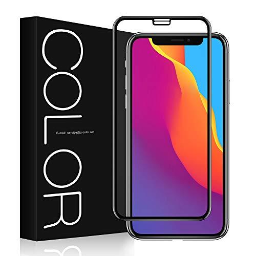 G-Color iPhone XS Plus Protection Écran Verre Trempé [1 Pièce], [3D Couverture Maximale] Ultra Claire Film [sans Bulle d'air] [9H Dureté],Anti-Rayure Film Protection Vitre pour Apple iPhone XS Plus