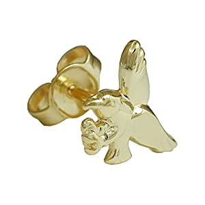 Sarengo Boucle d'Oreilles (Une Pièce) en Forme d'Aigle - Or Jaune (9ct)
