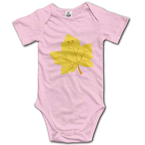ARTOPB Baby Climbing Clothes Set Maple Leaves Bodysuits Romper Short Sleeved Light Onesies Hip Baby Onesies