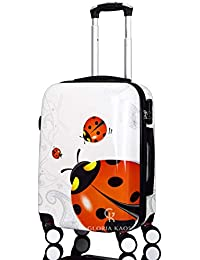 G.Kaos - Trolley da Cabina 55 cm - Valigia Rigida in ABS Policarbonato - Approvato Per Voli come Easyjet 55 cm & C. - Fantasia Coccinella (Ladybug 55cm)