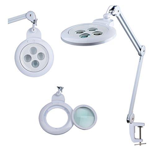 Komerci Wechsellinse für Lupenleuchte Lupenlampe KML-9006 mit 150mm 8/10/12/15-Dioptrien