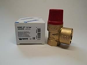 Membran Sicherheitsventil für geschlossene Heizungsanlagen 2,5 bar, bis 50 kW, E 1/2 - A 3/4