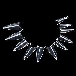 500 Stück Falsch Sharp Ending Stiletto Acrylic Nail Art Tips