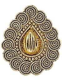 Zaveri Pearls Gold Filigree Traditional Finger Ring For Women - ZPFK5615