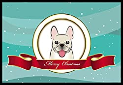 Carolines Treasures BB1548MAT French Bulldog Merry Christmas Indoor or Outdoor Mat, 18 x 27, Multicolor