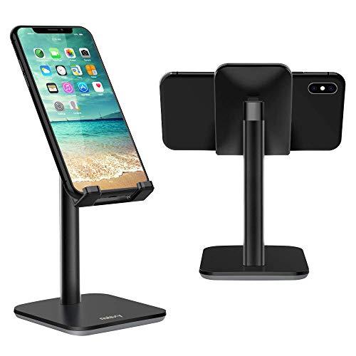 NULAXY Verstellbare Handy Ständer: Tisch Handy Halterung für Phone 11 Pro, Xs Max, Xs, XR, X, 8, 7, 6 Plus, SE, 5, Samsung S10 S9 S8 S7 S6 S5, Huawei, andere Smartphone - Schwarz