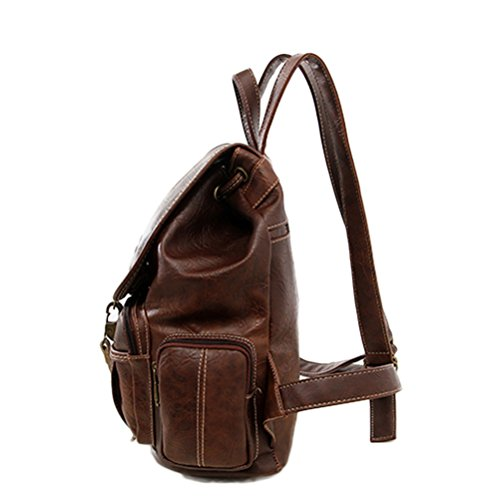 Honeymall borsa zaino Retro,Marrone chiaro Marrone