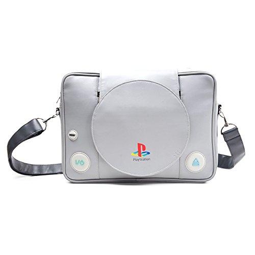 Playstation Tasche PS 1 Retro Design Shaped Messenger Bag Umhängetasche Kuriertasche Flight Bag
