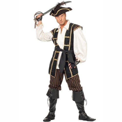 (PARTY DISCOUNT NEU Herren-Kostüm Pirat Louis Gr. 48)