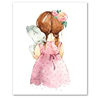 Girl and Umbrella E Poster Prints Wall Art Pictures A1 Size(40cmx60cm)