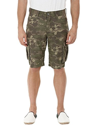 Krystle Men's Camo/Army Printed Cargo 6 pocket Shorts-36
