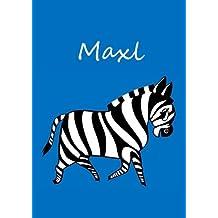 Maxl: individualisiertes Malbuch / Notizbuch / Tagebuch - Zebra - A4 - blanko