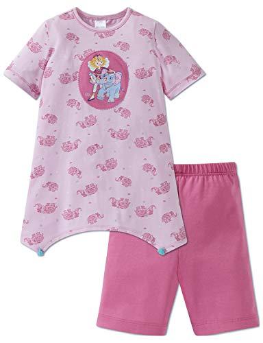 Schiesser Mädchen Prinzessin Lillifee Md Anzug kurz Zweiteiliger Schlafanzug, Rot (Rosa 503), 98 (Herstellergröße: 098)