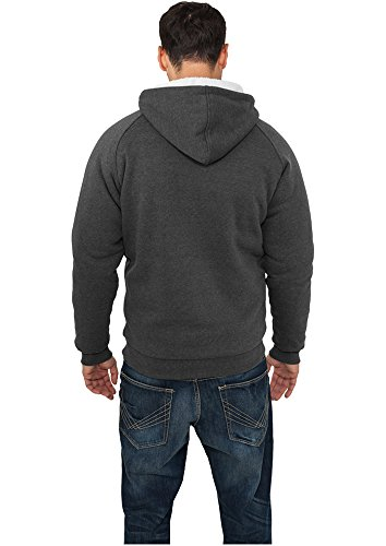Urban Classics Urban Classics Winter Zip Hoody Kapuzensweatjacke braun (brown) Charcoal/White