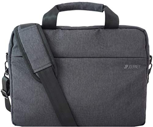 Laptoptasche 13 bis 14 Zoll MacBook Air Pro 13 3 Umhängetasche Herren Groß Schultertasche Damen Wasserabweisend Anti Diebstahl Grau by JP Journey