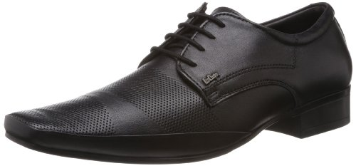 Lee Cooper Men's Black Leather Formals & Lace-Up Flats (LC1577) - 9UK/India (43EU)