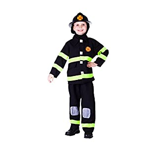 Dress Up America - Disfraz premiado de bombero deluxe, talla L, 12-14 años (203-L+fireh)