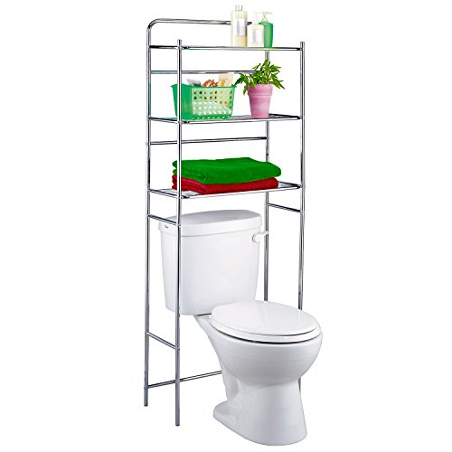 Tatkraft Tanken | Toilettenregal aus hochwertigem Chromstahl | WC-Regal aus Chromstahl | Ideal für...