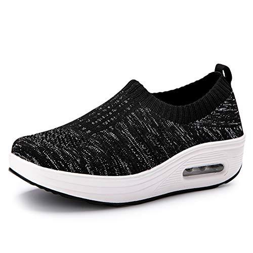 Frauen Laufschuhe Casual Slip on Socke Sneakers Wedges Loafers Komfortable Plattform Trainer (10 Frauen Bowling-schuhe Größe)