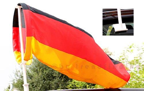 Autofahne Autoflagge Windhose Deutschland Fussball EM 2016 Fahne Flagge Windsack schwarz rot gold