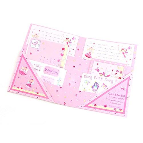 Magische Fee Briefpapier Set für Mädchen (Schreibpapier, Briefumschläge, Postkarten, Sticker) - Lucy Locket