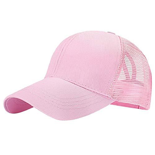 217d1d49 heekpek Baseball Cap Messy Bun Ponytail Half Mesh Adjustable Cap Hat Unisex  Polo Style Classic Sports