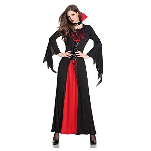 Sloater Damen Kostüm Halloween Königin Vampirin Halloween-Frauen kleiden Weibliches Cosplay-Rollenspiel-Kostüm-Kleid Ostern Halloween Karneval Halloween-kostüme Damen Halloween Kostüm Damen Lang